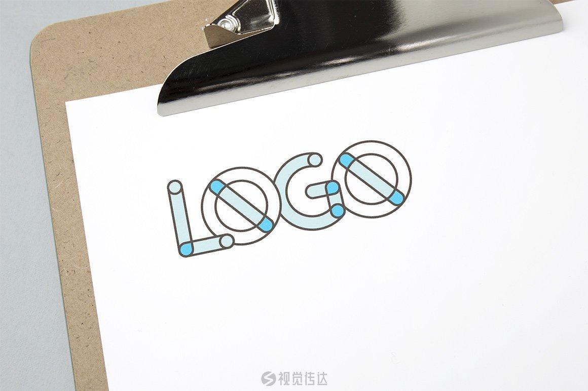 10款全彩徽标LOGO样机模板