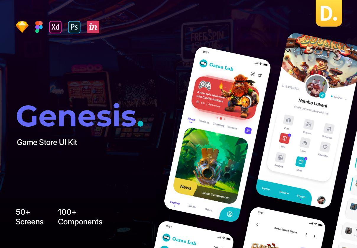 移动端游戏平台APP UI套件 Genesis – Manager Game UI Kit