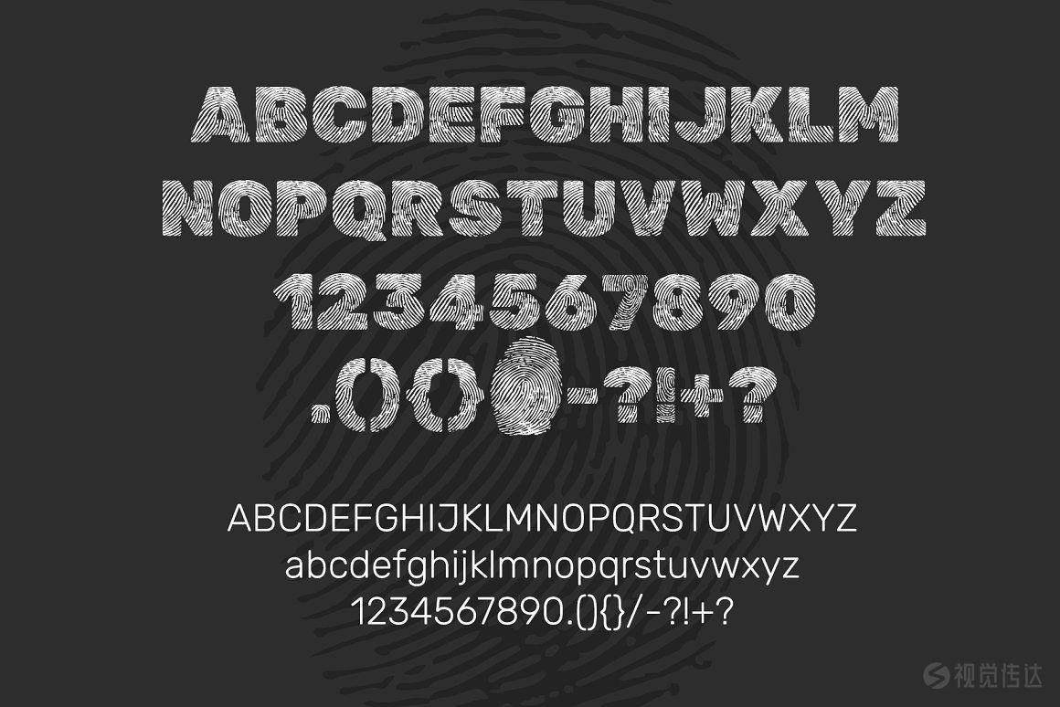 指纹风格英文字体