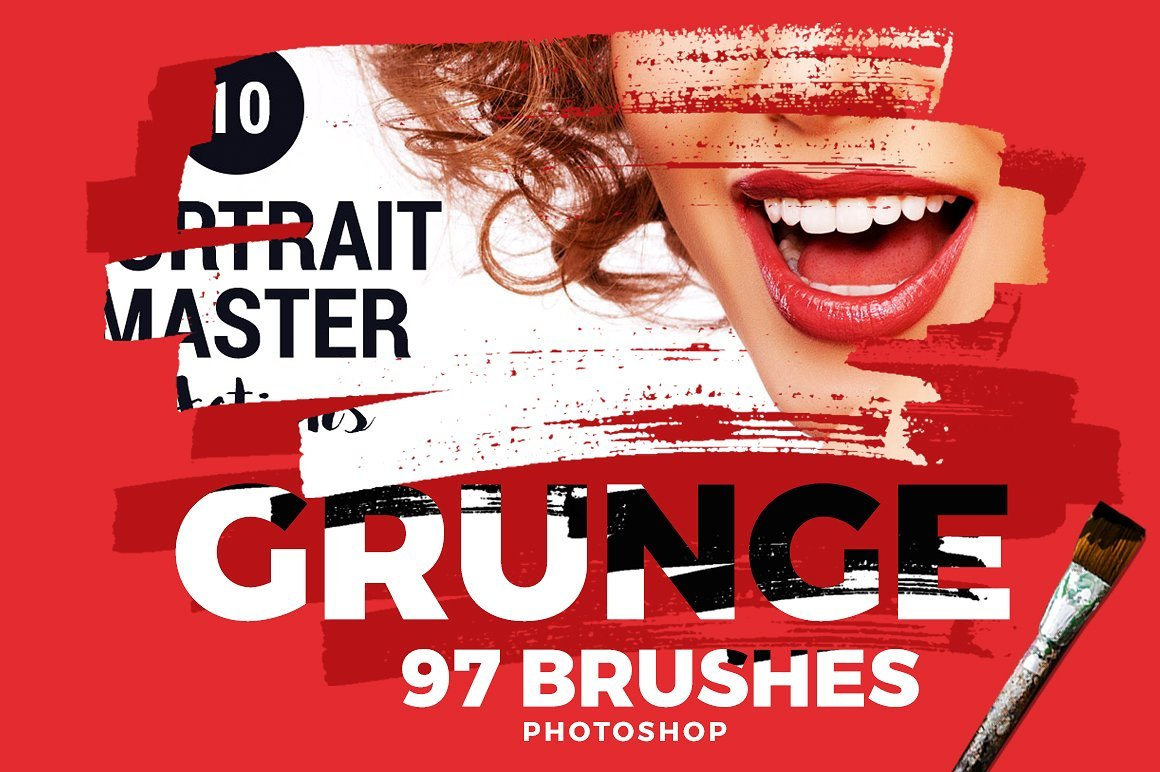 97个PS毛笔笔刷合集 Photoshop Brushes