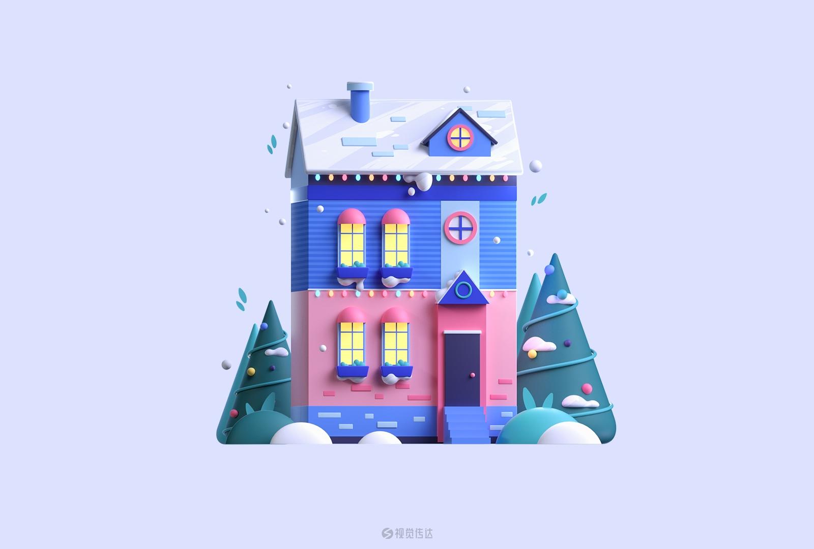 免费可商用3D圣诞节图形素材