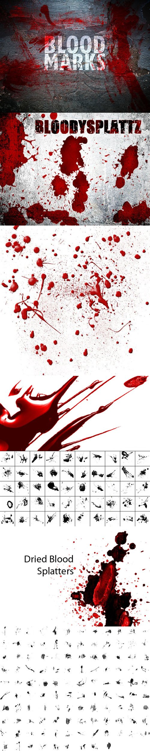 200+ 血迹笔刷合集