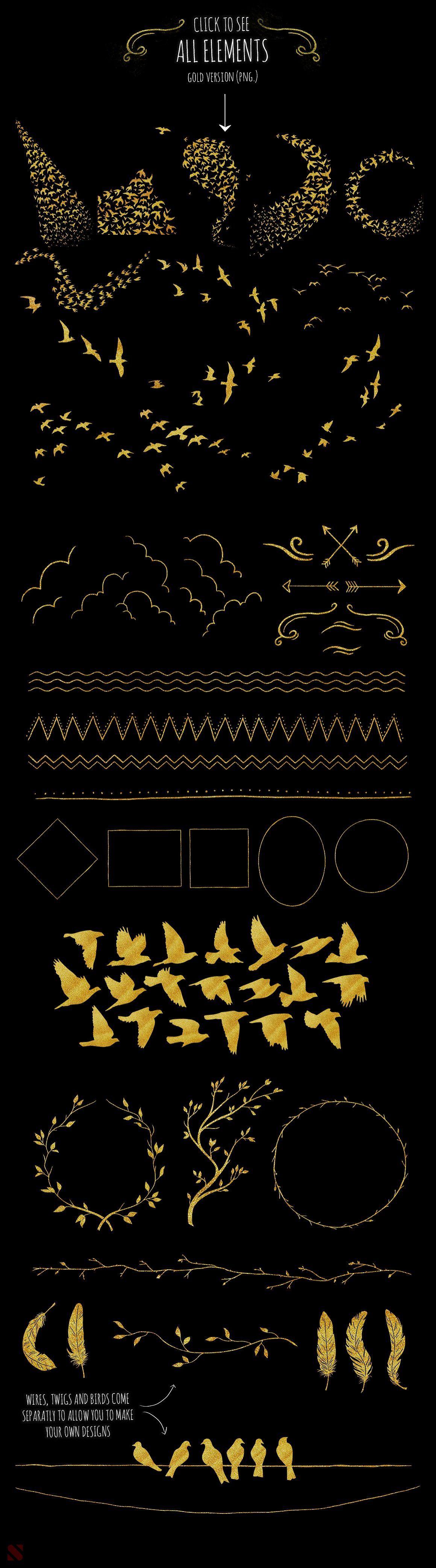 70多种鸟图形元素合集