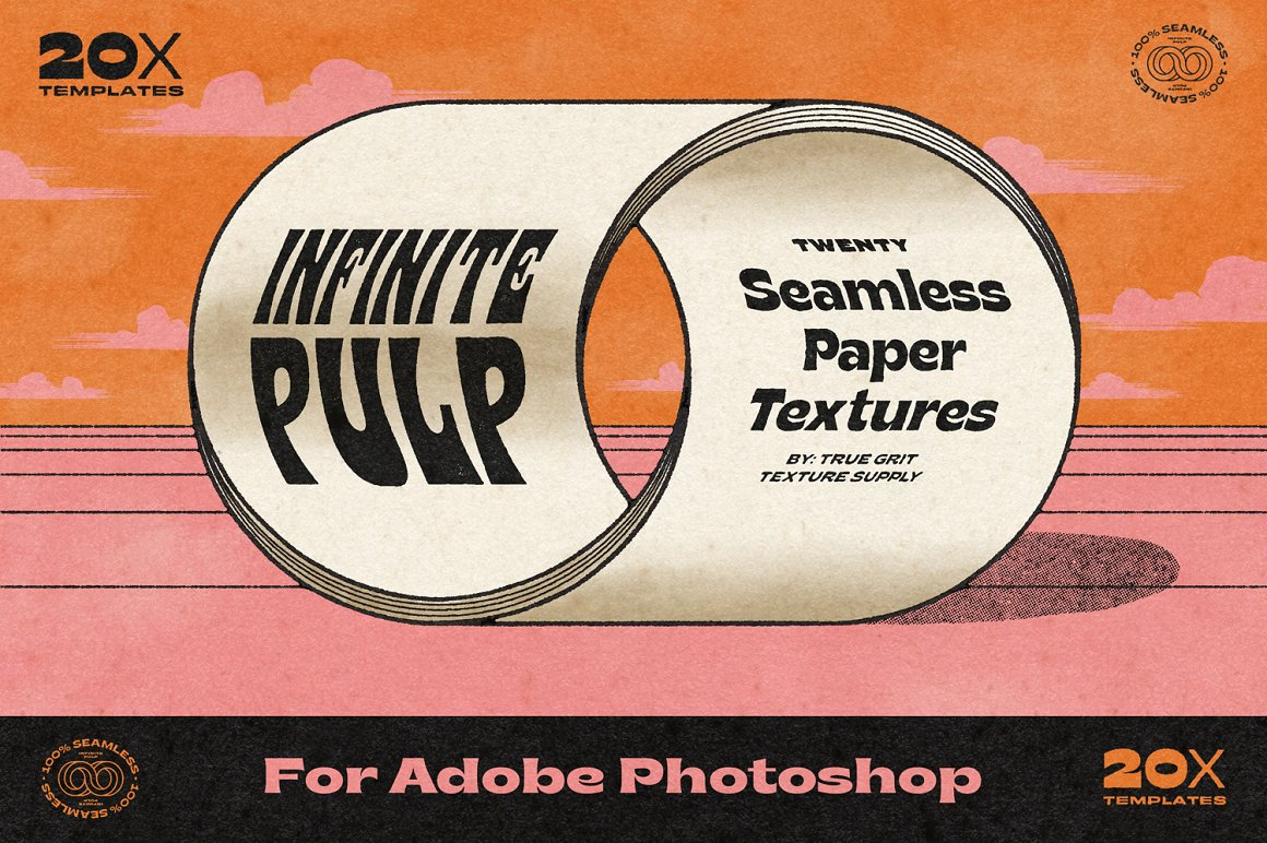 复古PSD背景纹理合集 Infinite Pulp for Photoshop