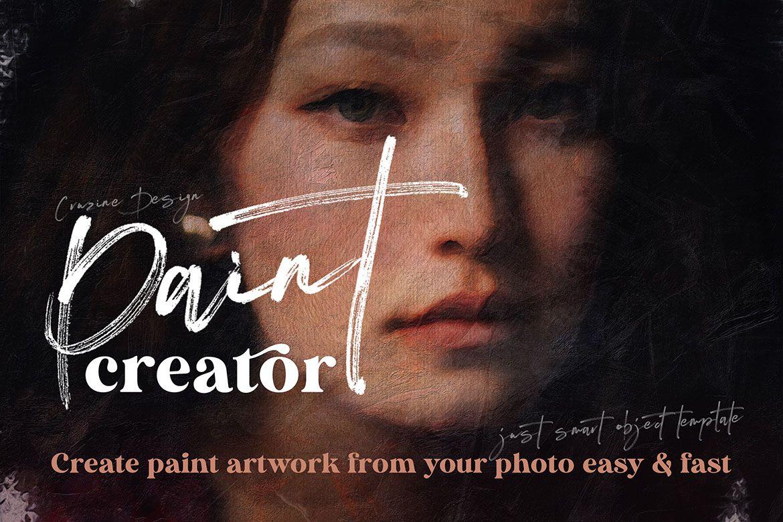 水彩画笔,纹理,图案,形状和样机模板 The Ultimate Paint Creator