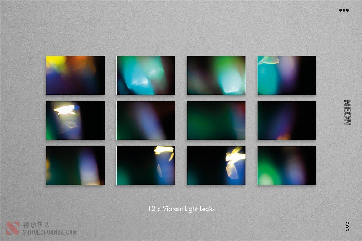 120+霓虹灯泄漏和发光PS叠加层