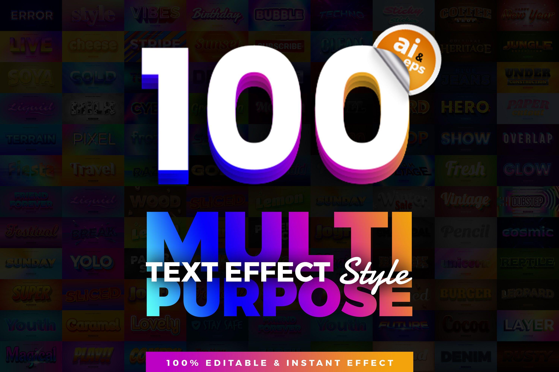 100合1组合式多用途文字效果
