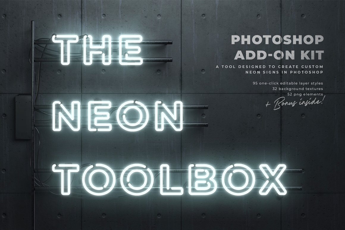 霓虹灯效果工具箱/PS样式 The Neon Toolbox