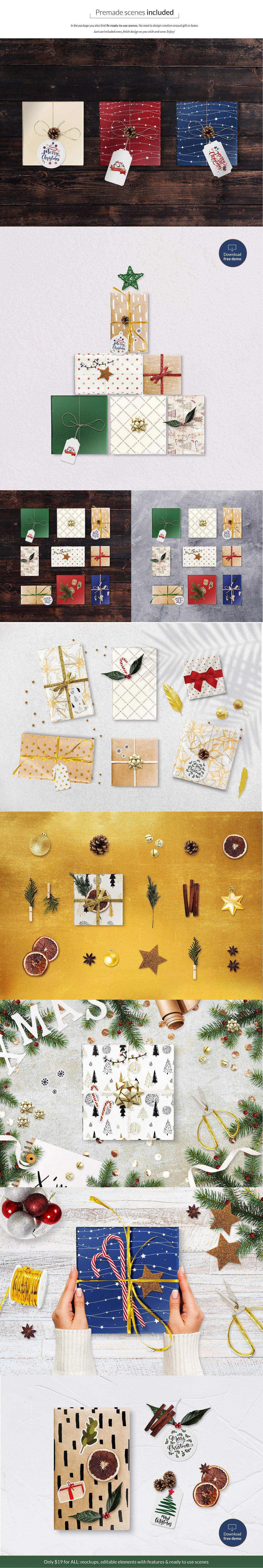 圣诞礼物模型元素合集