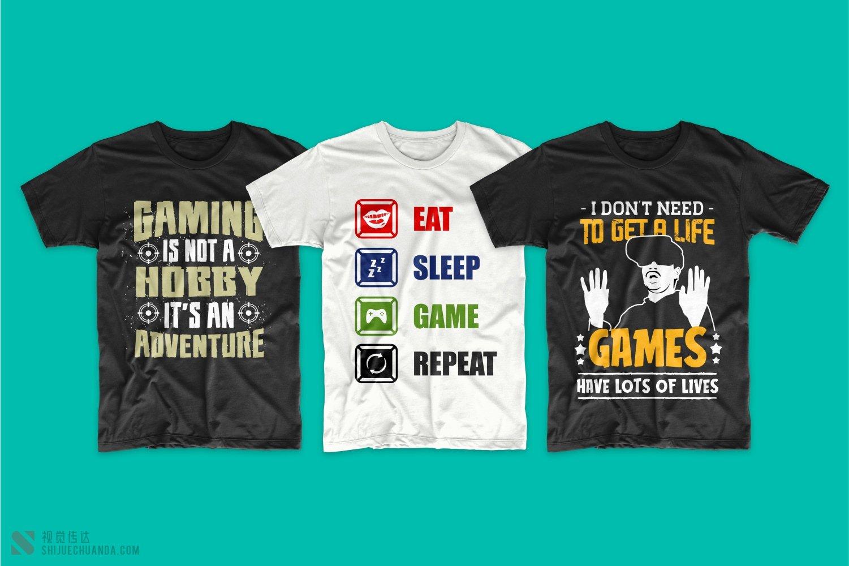 50款游戏相关T恤设计图案