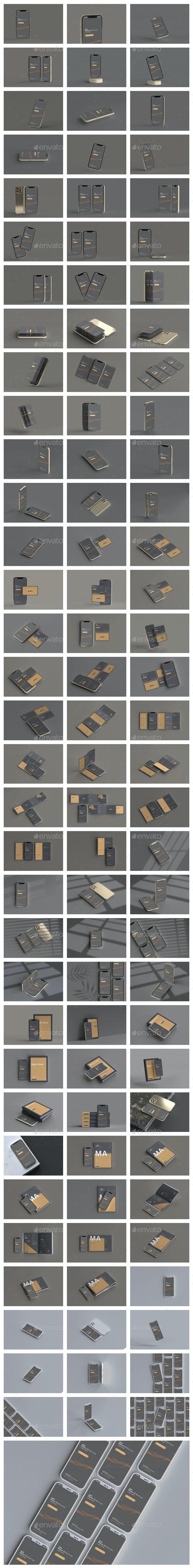 100个不同场景 iPhone 12样机合集