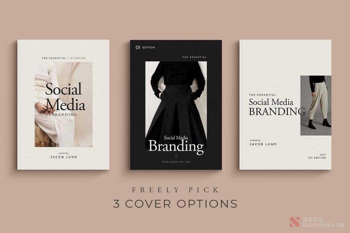 4套社交媒体品牌样机模板