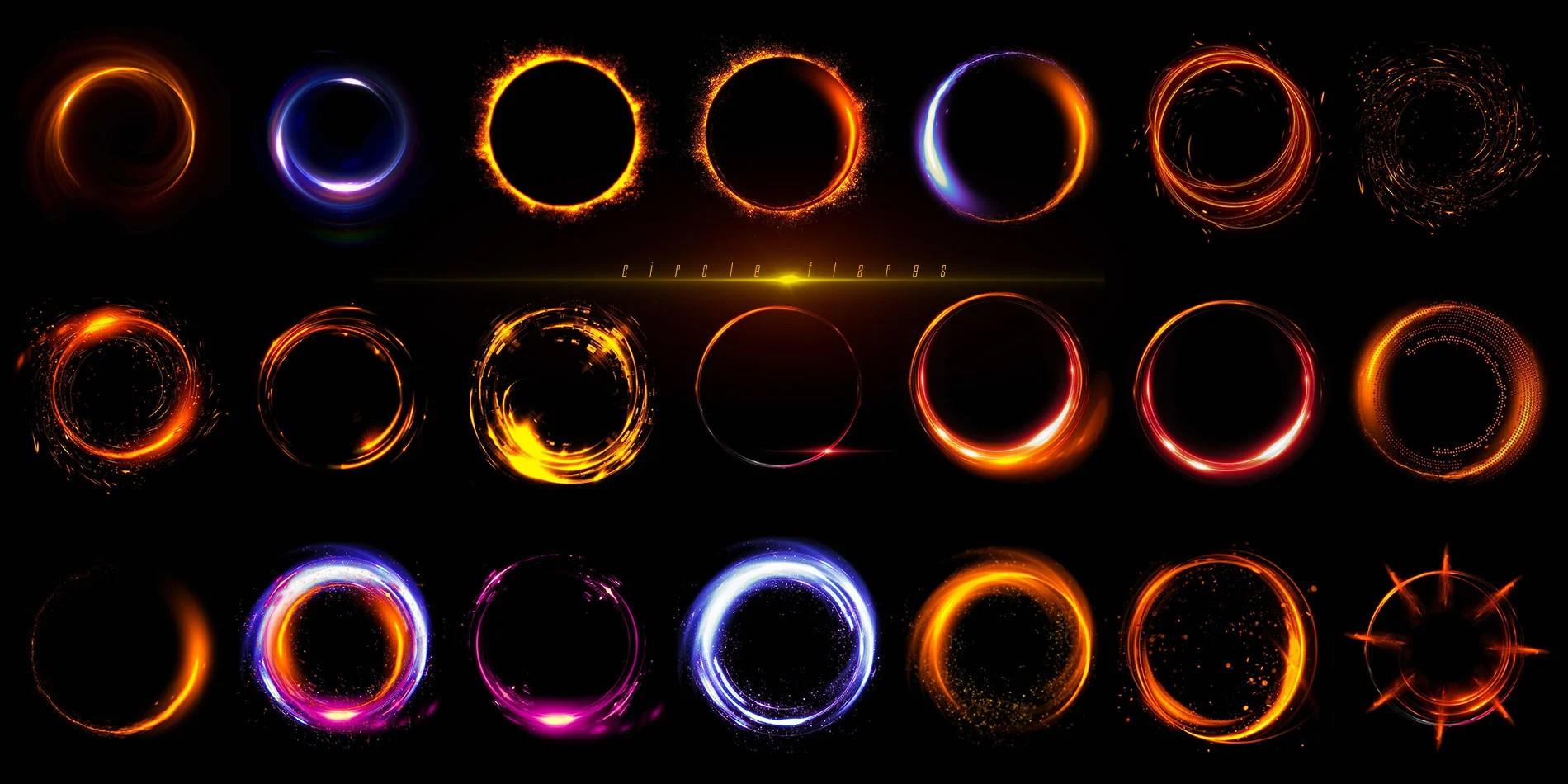 圆型光效光斑设计元素合集