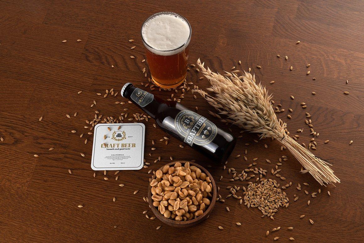 精酿啤酒包装样机模型
