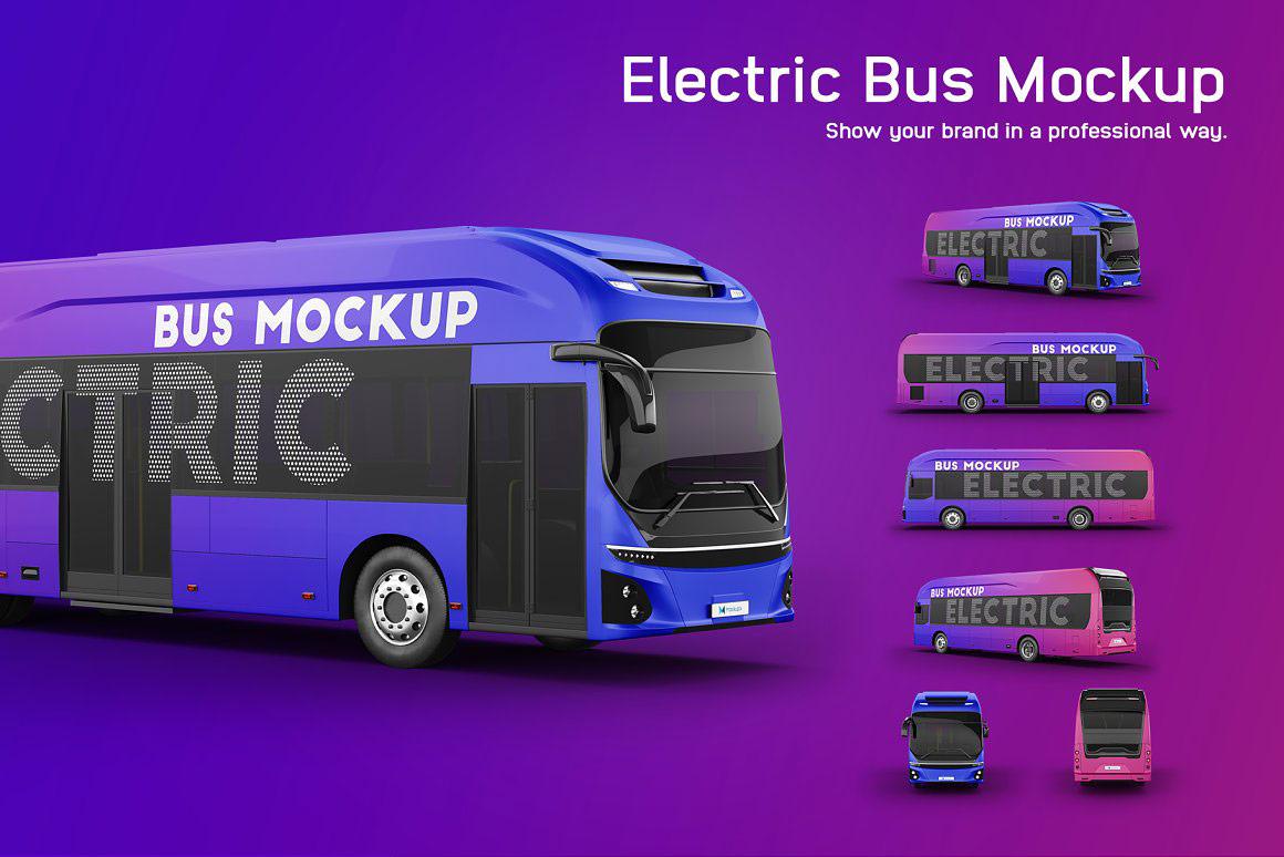 公交车电动巴士样机 Electric Bus Mockup
