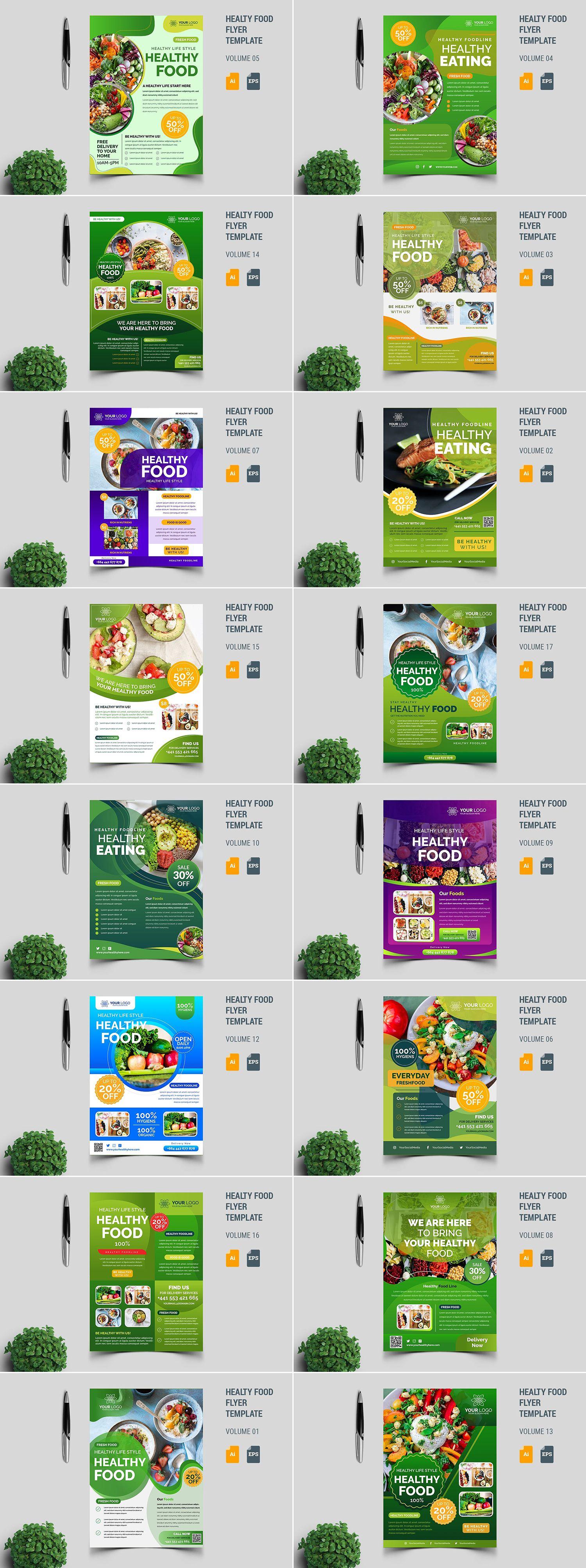 健康食品传单模板