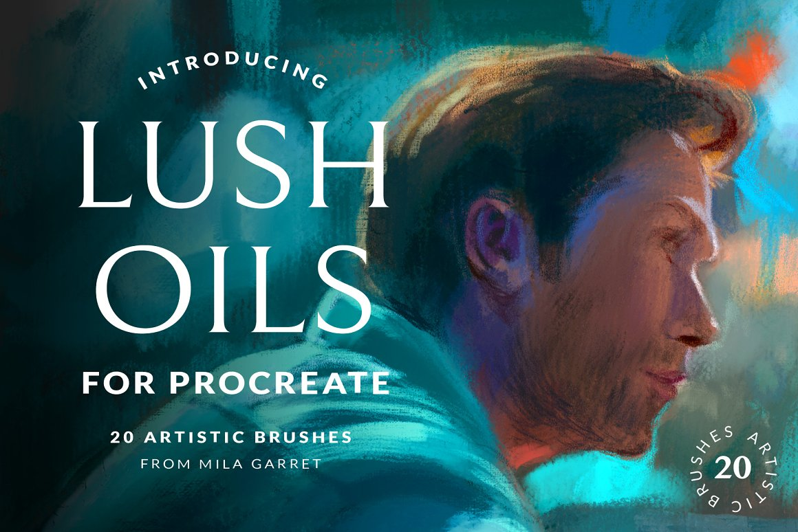 油画棒Procreate画笔 Lush Oils Procreate Painting Brushes