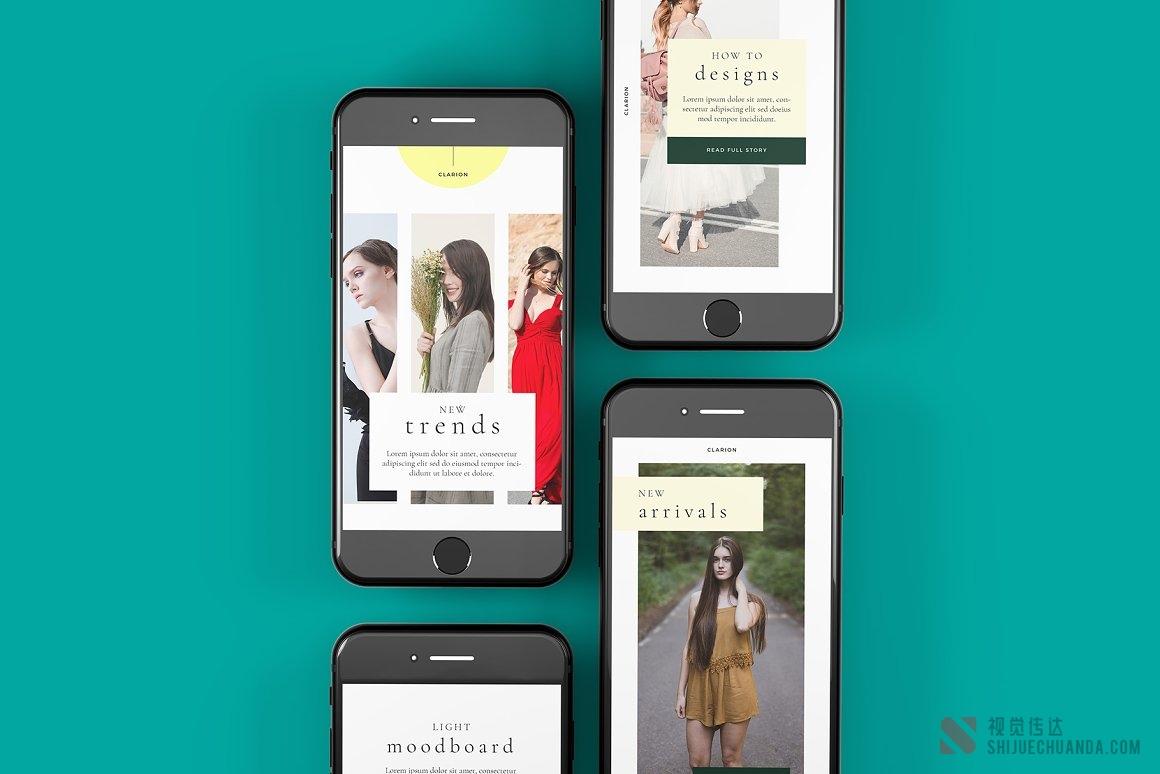 10个手机屏幕UI样机模板