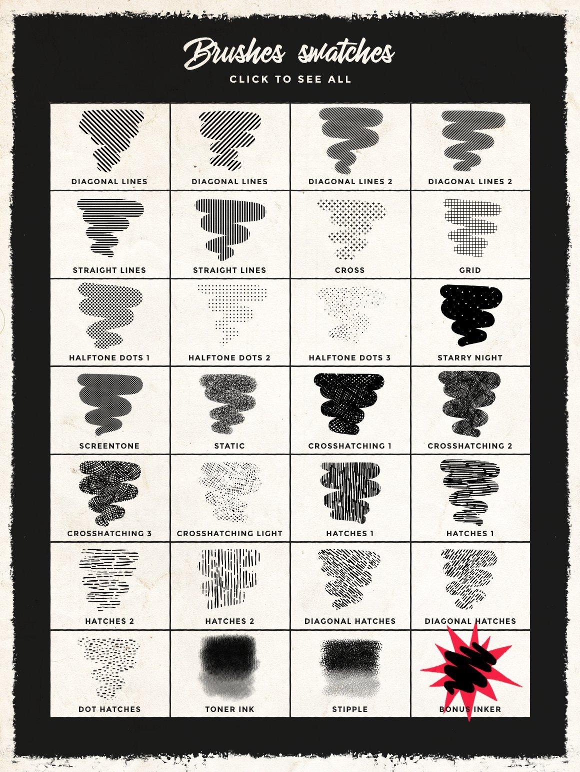 28种图案Procreate笔刷