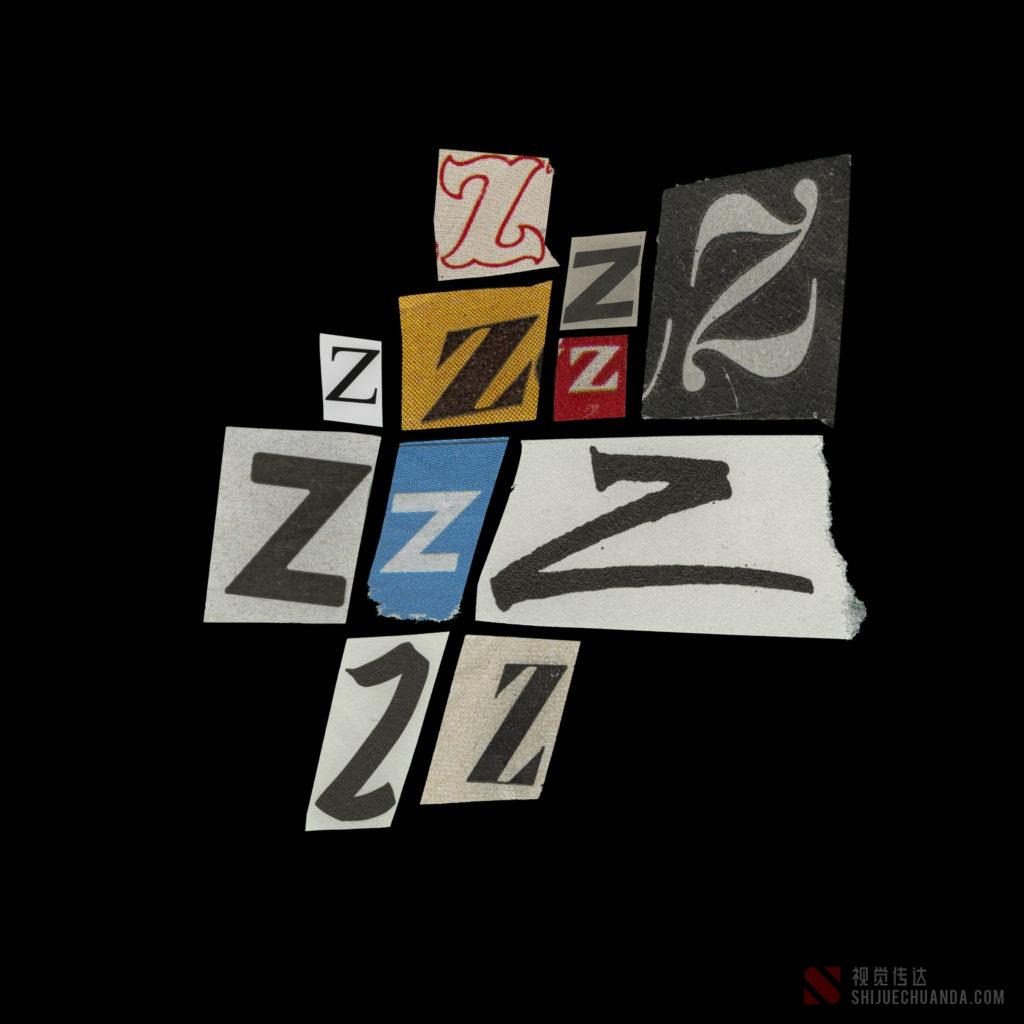复古字母/数字/符号设计元素