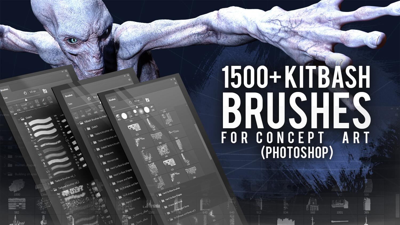 1500+套用于概念艺术的PS画笔合集