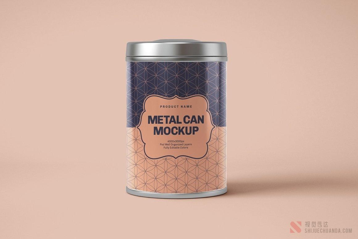 20个圆形锡罐盒样机集