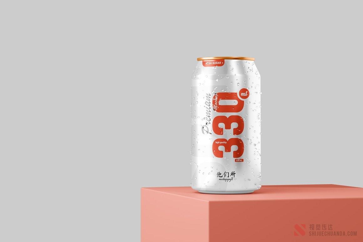 330ml汽水罐易拉罐样机