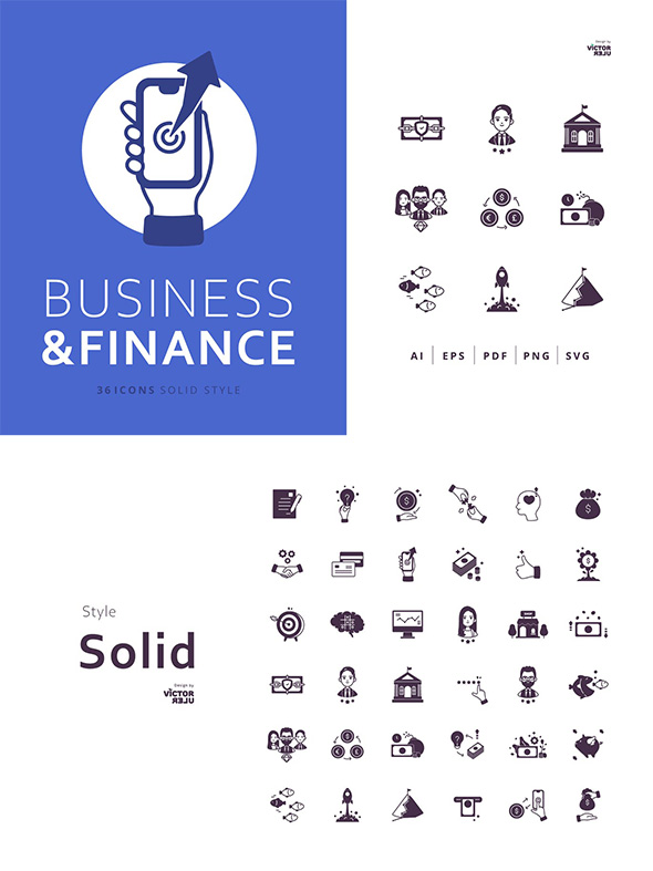 36个商业金融图型图标