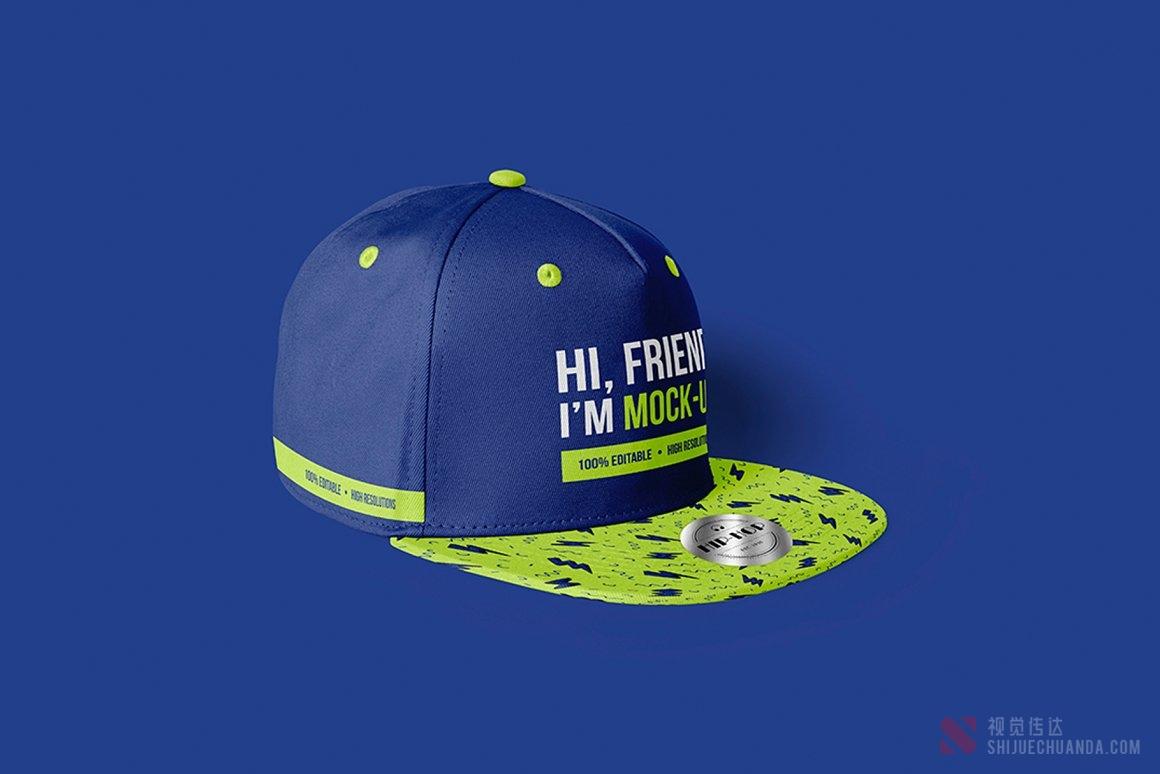 嘻哈棒球帽样机
