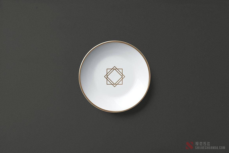 5种不同角度高端盘子样机