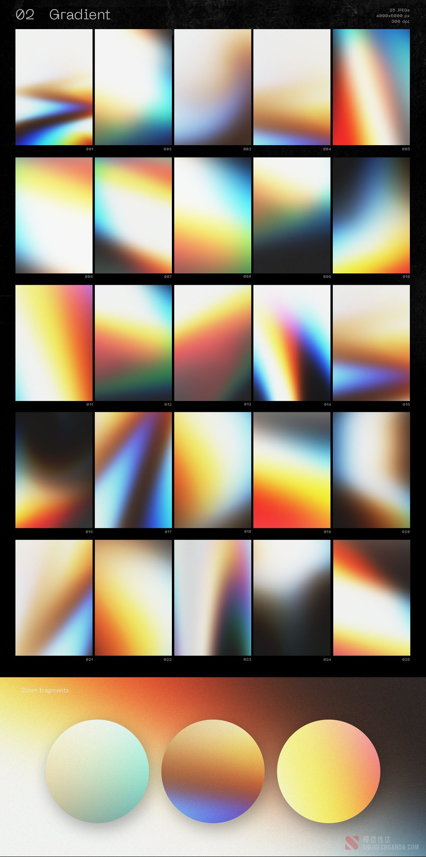 抽象炫彩全息液体渐变纹理背景