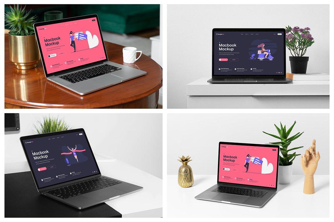 MacBook电脑场景样机