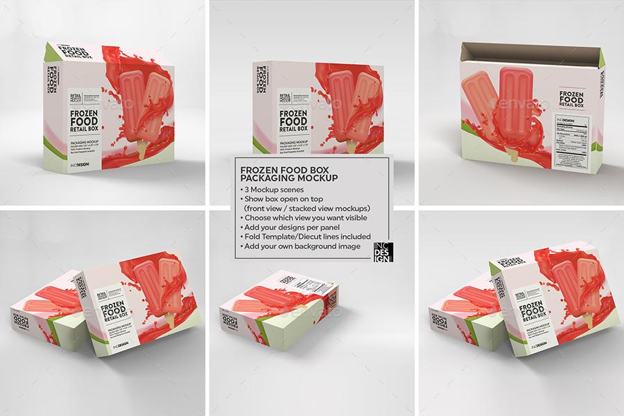 冷冻食品盒包装样机