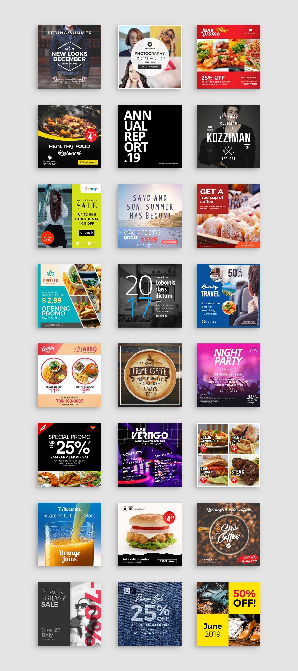 正方形社交营销微博微信朋友圈Instagram模板