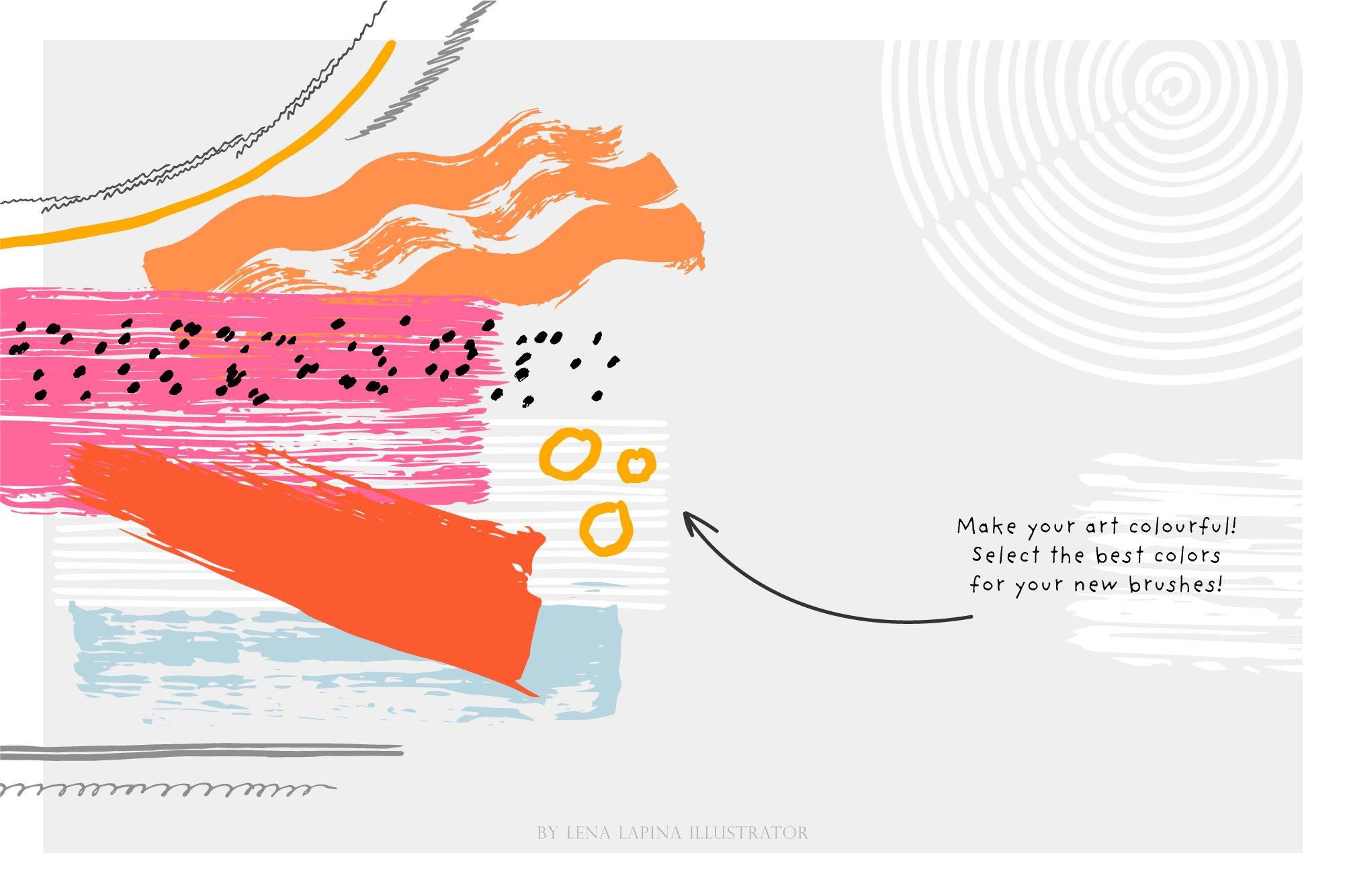 水墨毛笔绘画AI矢量笔刷