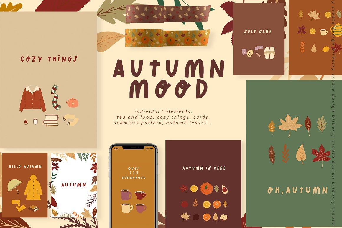 秋天的心情艺术元素合集 Autumn Mood art set