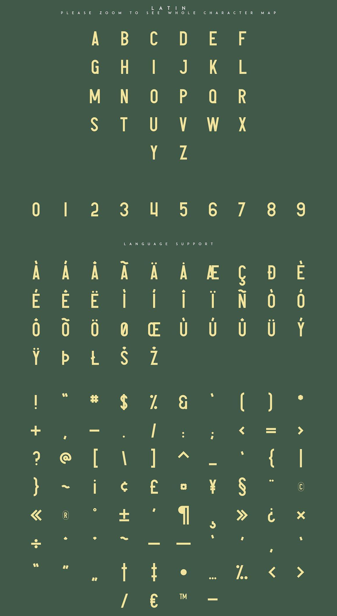 复古英文字体 Avoqado