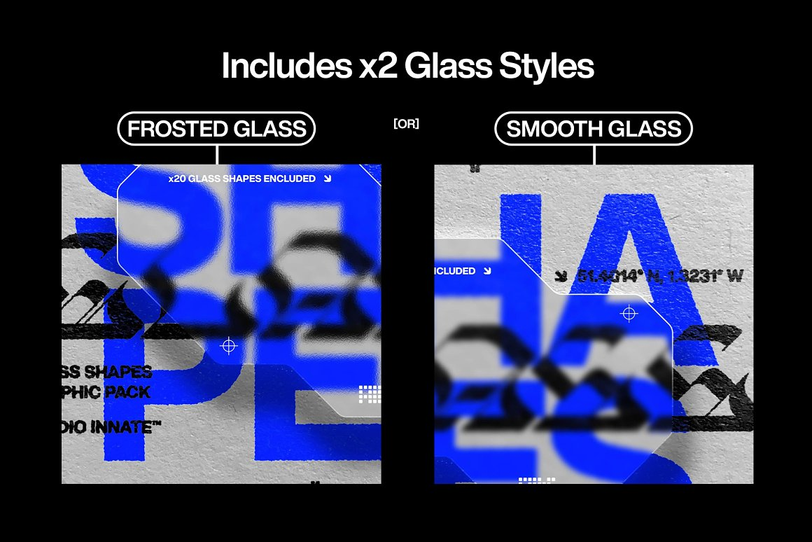 毛玻璃效果形状样机模板