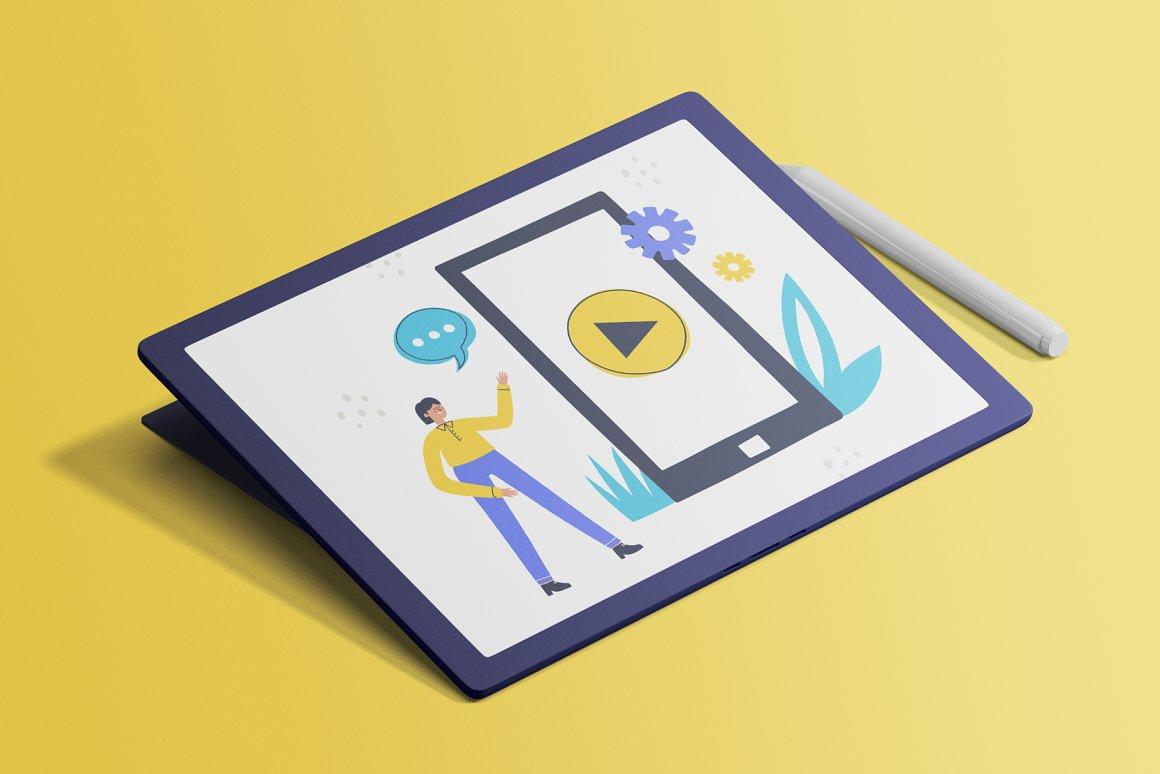 现代商业概念插画