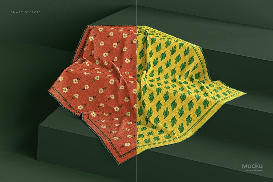 真丝围巾纱巾样机模板