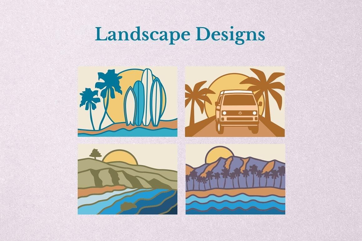 加州设计风格插画