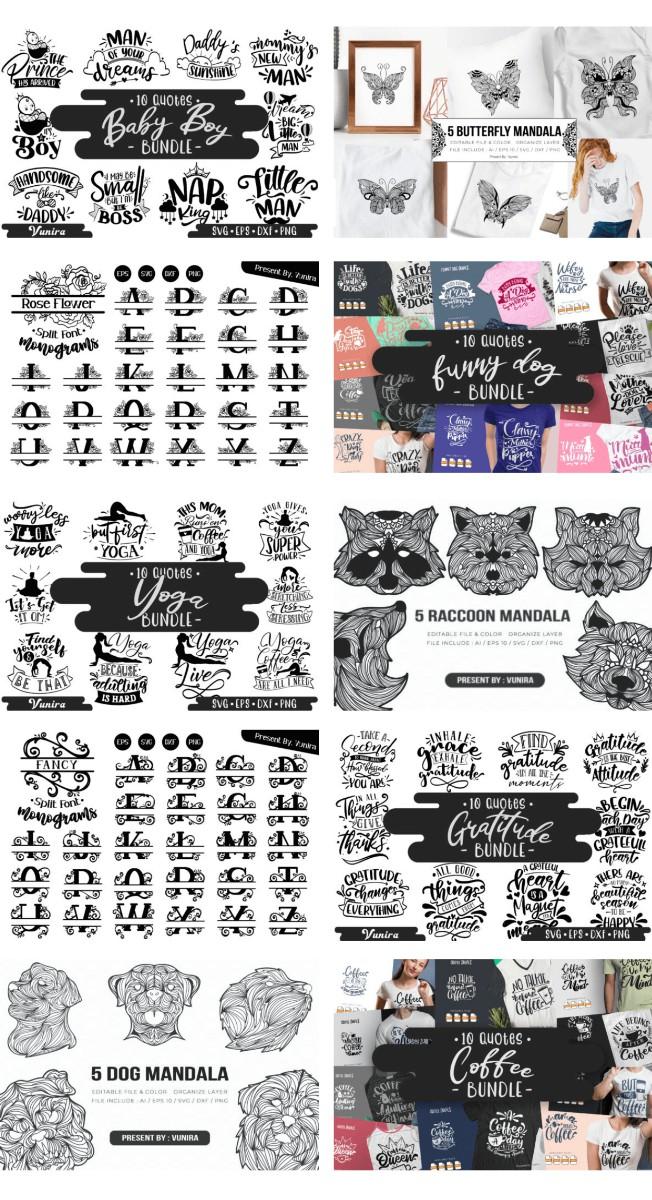 500种高级字体+1309高级图形素材