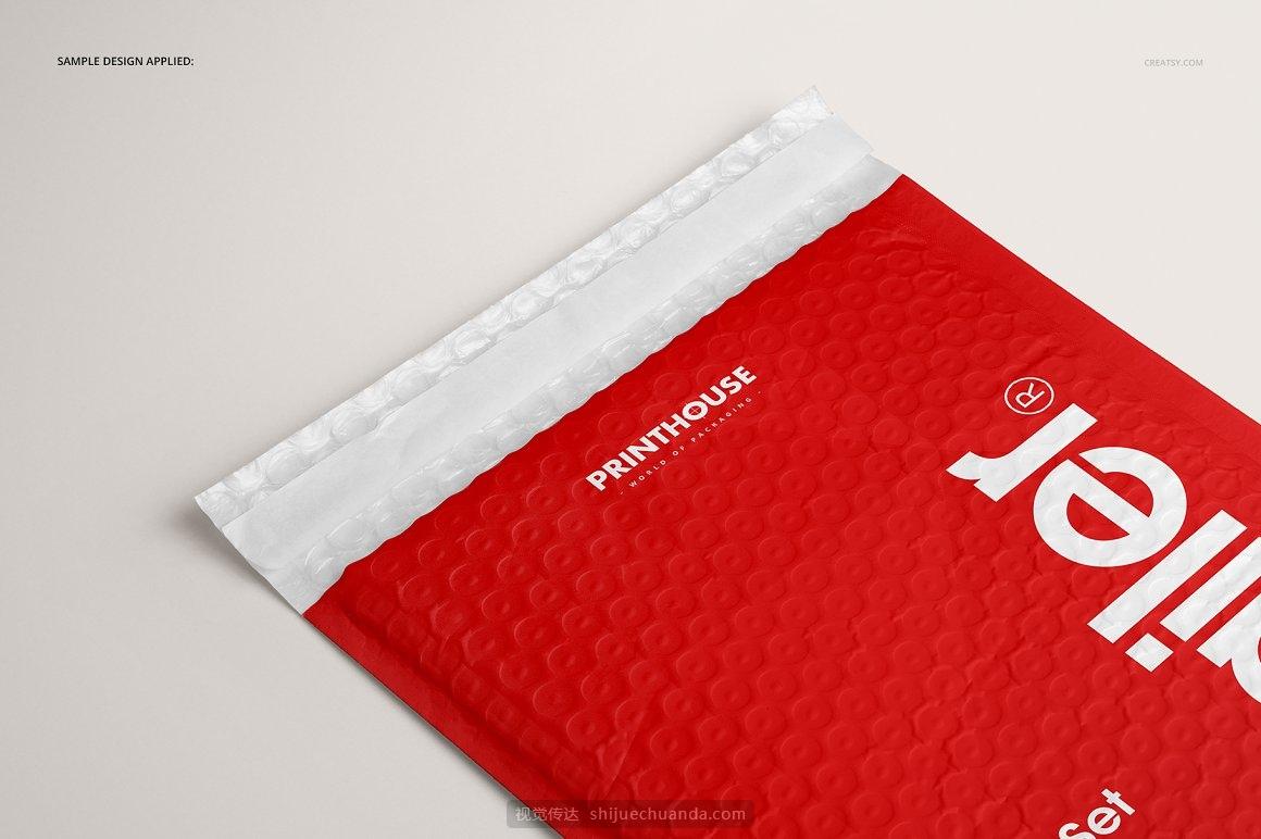 快递袋信封文件袋包装设计样机PSD模板