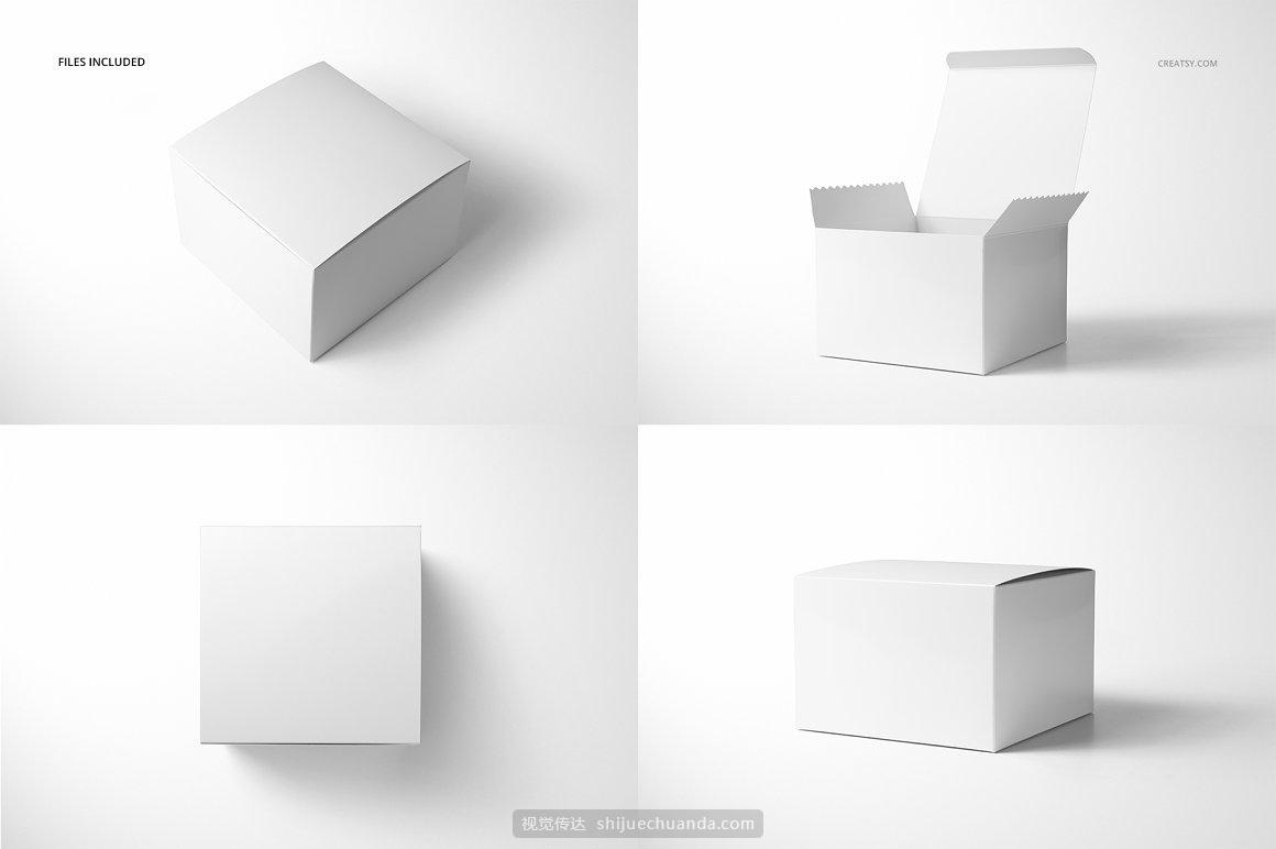 纸箱礼物盒包装设计提案样机PSD模板
