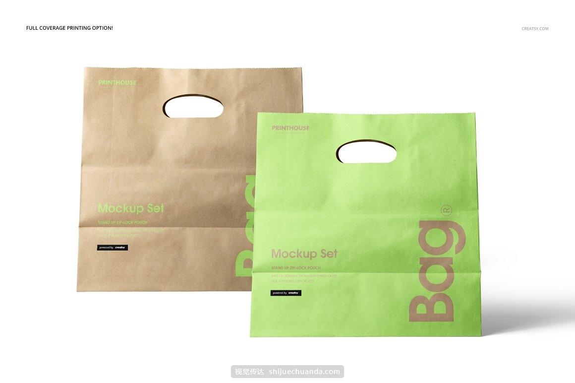 手提购物袋品牌VI提案样机模板