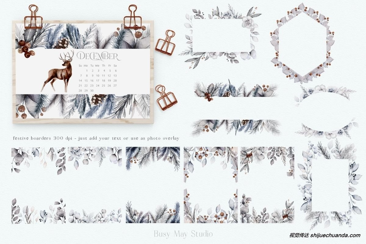 圣诞节/冬季设计元素