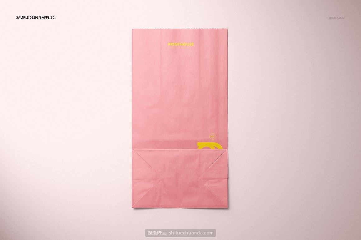 快餐三明治零食汉堡食品袋纸袋样机模板