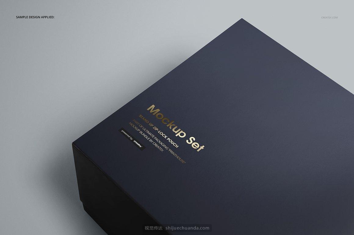 服装纸箱礼物盒提案样机PSD模板