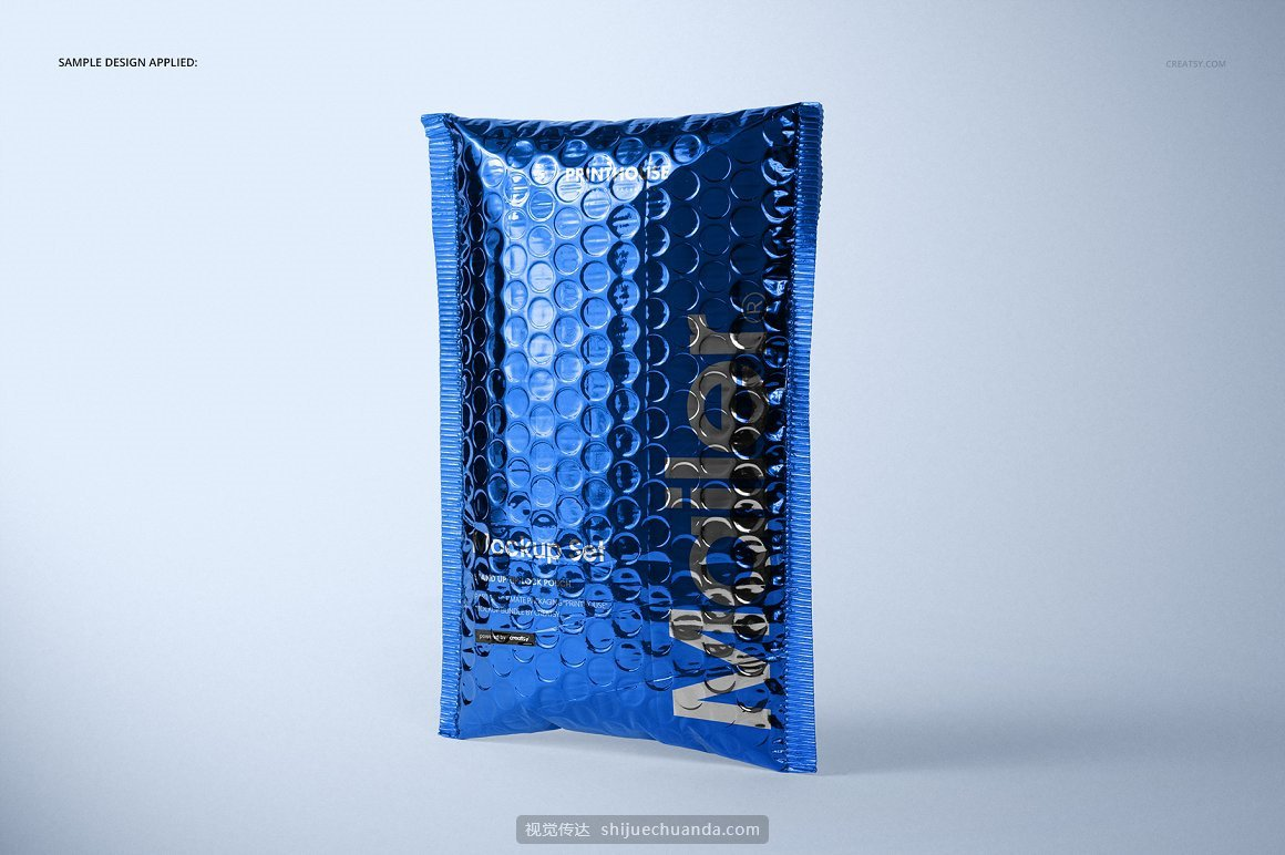 金属气泡快递袋信封文件袋样机PSD模板