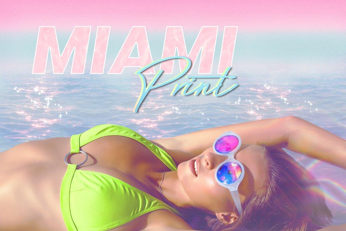迈阿密印刷美学PS风格素材